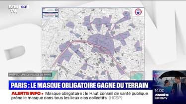 Paris: le port du masque obligatoire étendu depuis ce samedi matin