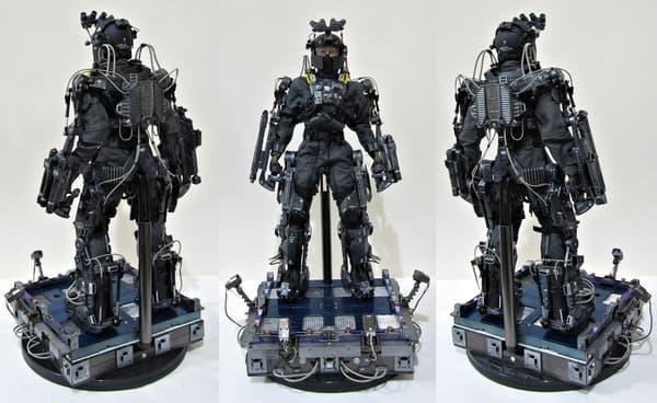 Le prototype de l'exosquelette présenté en 2018 dans le cadre du programme Talos