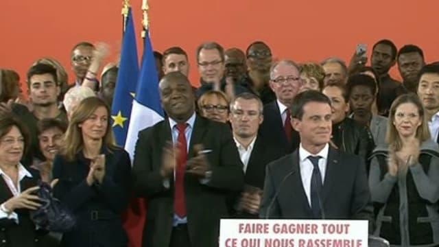 Manuel Valls à Evry, lundi 5 décembre 2016.