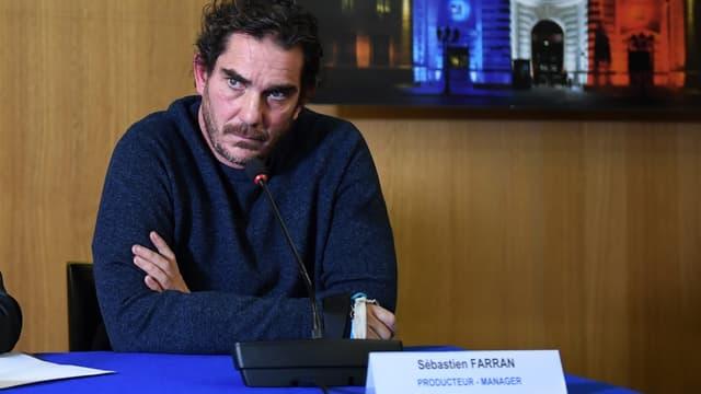Sébastien Farran le 7 décembre 2017 lors de la conférence sur l'hommage national à Johnny Hallyday