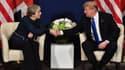 Theresa May et Donald Trump à Davos, le 25 janvier 2018.