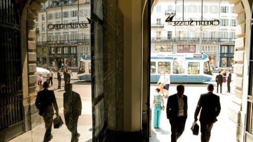 Le siège du Crédit Suisse, la deuxième banque helvète, à Zurich.