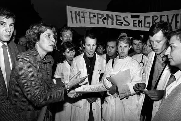 Avant la tempête. Georgina Dufoix, ministre des Affaires sociales et de la Solidarité nationale du gouvernement Fabius, ici le 14 août 1984.
