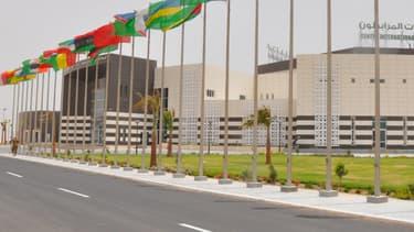Le nouveau centre de conférences à Nouakchott, en Mauritanie.