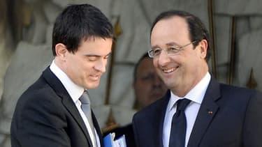 Manuel Valls et François Hollande à l'Elysée
