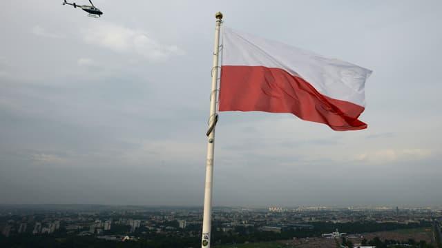 Un drapeau polonais (illustration)