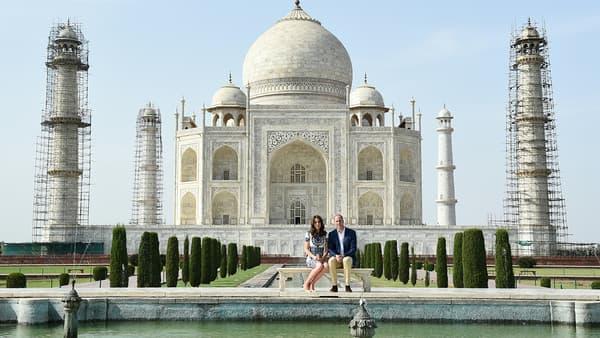 Kate et William au Taj Mahal