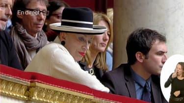Geneviève de Fontenay a assisté mercredi aux questions au gouvernement à l'Assemblée nationale.