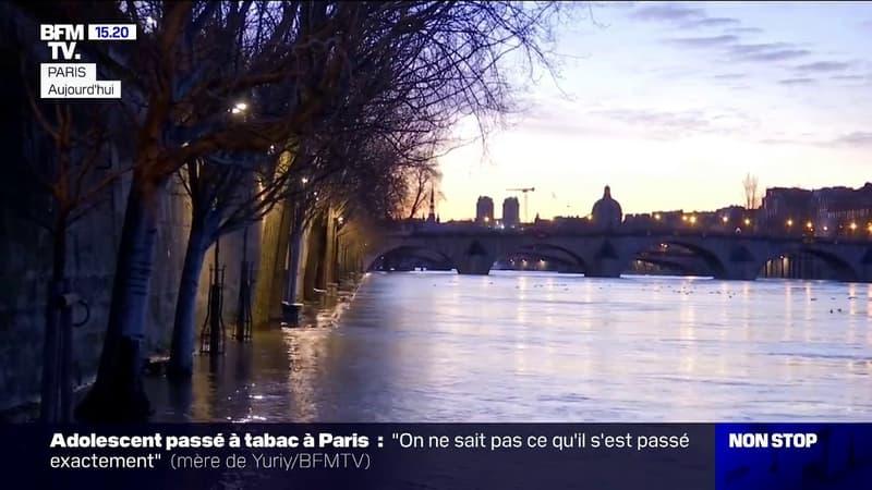 Crue de la Seine: les berges inondées et impraticables à certains endroits de la capitale