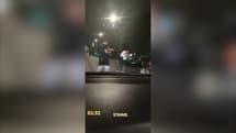 Un automobiliste a filmé les coups de feu tiré par les policiers sur Samy et sa compagne, à Stains, le 15 août 2021.