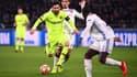 Lionel Messi face à l'OL