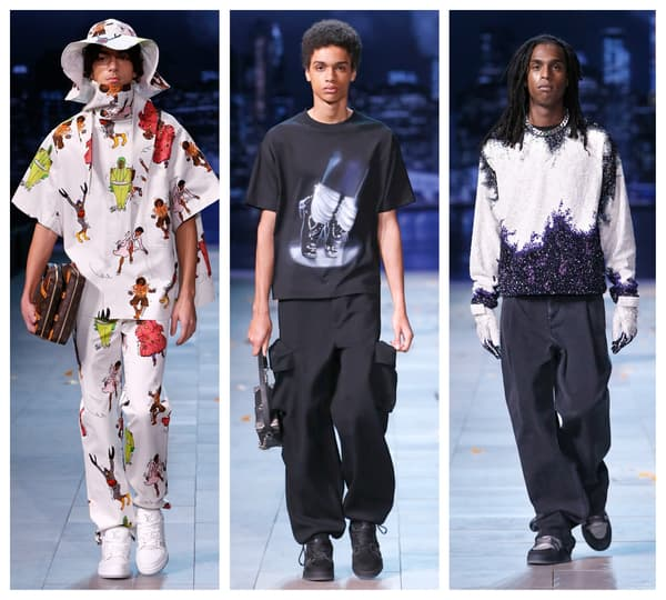 Des mannequins pendant le défilé Louis Vuitton inspiré par Michael Jackson