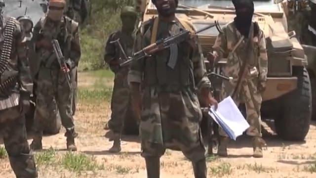 """Le chef de Boko Haram Abubakar Shekau, ici en juillet 2014, a déclaré créer un """"califat islamique"""" dans une ville du nord-est du Nigeria."""