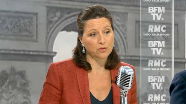Agnès Buzyn, ministre des Solidarités et de la Santé, sur le plateau de BFMTV et RMC le 12 avril 2018