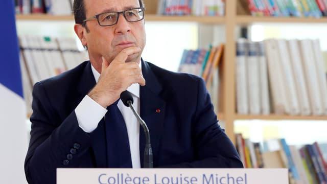 Le président de la République François Hollande