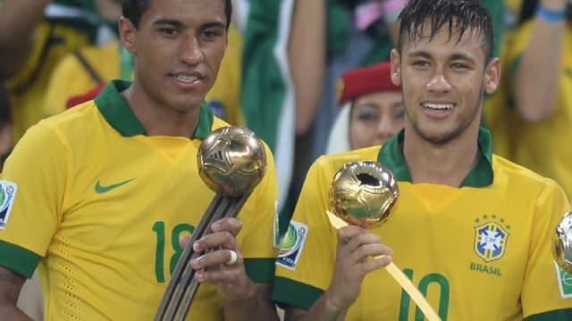 """Neymar et Paulinho avaient terminé """"Golden Ball"""" et """"Bronze Ball"""" de la Coupe des Confédérations 2013."""