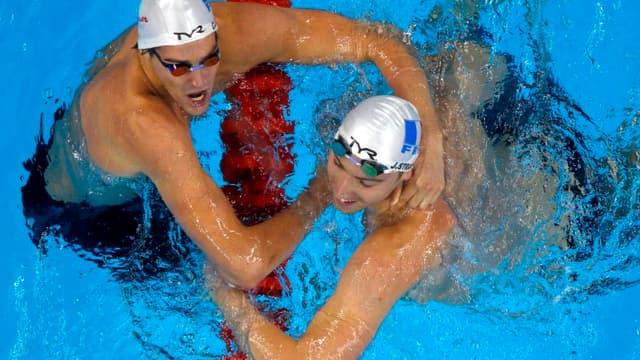 Camille Lacourt et Jérémy Stravius