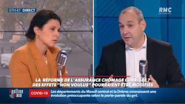 """INFO RMC - Laurent Berger a estimé sur RMC ce jeudi, a estimé que """"la réforme de l'assurance chômage est injuste et totalement anachronique""""."""
