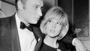 Johnny Hallyday et Sylvie Vartan en 1964.
