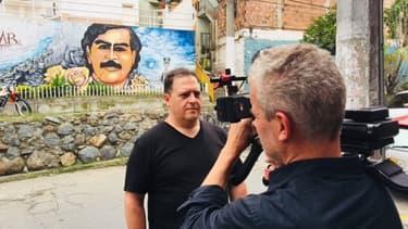 """Le tournage de """"Escobar, l'héritage maudit""""."""