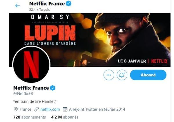 Bio Netflix France sur Twitter