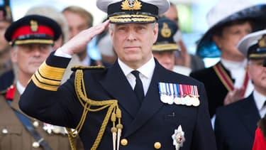 Le prince Andrew, duc de York, au défilé militaire annuel à Guildford, le 27 juin 2015