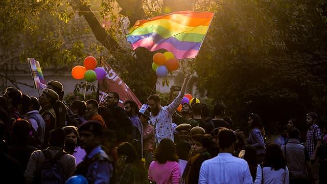 Gay pride à New Delhi, en novembre 2016.