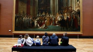 """""""Le Sacre de Napoléon"""" au musée du Louvre, novembre 2020 (Photo d'illustration)."""