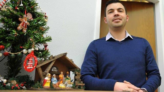 Le maire d'Hayange, Fabien Engelmann