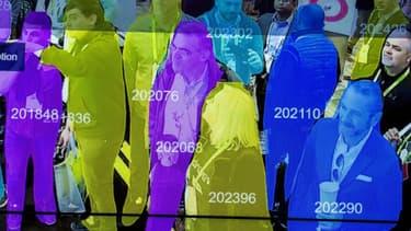 Un scanner de reconnaissance faciale utilisant l'intelligence artificielle présenté au salon de la robotique au CES de Las Vegas, en janvier 2019.
