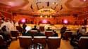 A Doha, à l'ouverture du sommet de la Ligue arabe mardi. Les dirigeants de la Coalition nationale syrienne (CNS), principale structure d'opposition politique au président Bachar al Assad, occupent pour la première fois le siège dévolu à la Syrie lors de c
