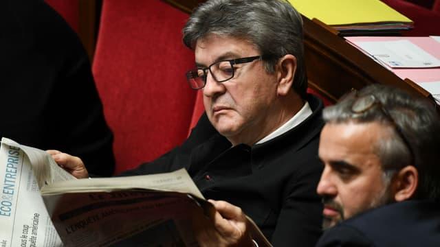 Le député France Insoumise Jean-Luc Mélenchon à l'Assemblée nationale, le 20 décembre 2018 à Paris.