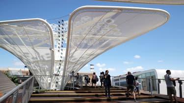 Le pavillon allemand de l'Exposition universelle de Milan, le 17 août.