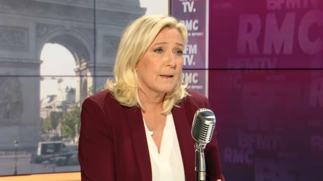 Marine Le Pen, invitée de BFMTV-RMC jeudi 14 mai 2020.