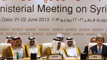 """Les """"Amis de la Syrie"""" réunis à Doha, au Qatar, samedi 22 juin."""