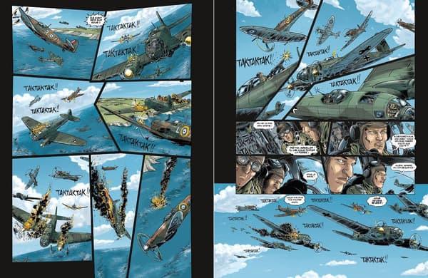 """""""L'Agence des invisibles"""", la première BD de Marc Lévy. Une double page en hommage à """"Buck Danny"""""""