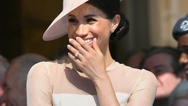 La duchesse de Sussex le 22 mai 2018 à Londres.