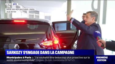 Nicolas Sarkozy s'engage dans la campagne des municipales