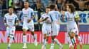 Les joueurs de l'OM lors d'un match de Ligue 1