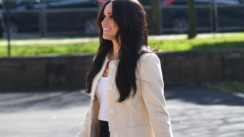 Le look à copier de la semaine: la veste en tweed de Meghan Markle
