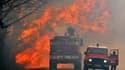 Les pompiers de Gironde en lutte contre l'incendie qui a ravagé 550 hectares de fôret à Lacanau
