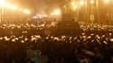 Manifestation anti-gouvernementale sur la place de Tahrir, au Caire. Trois Egyptiens, dont un policier, sont morts mardi lors de manifestations qui se sont déroulées dans plusieurs villes du pays pour réclamer la fin du régime du président Hosni Moubarak,