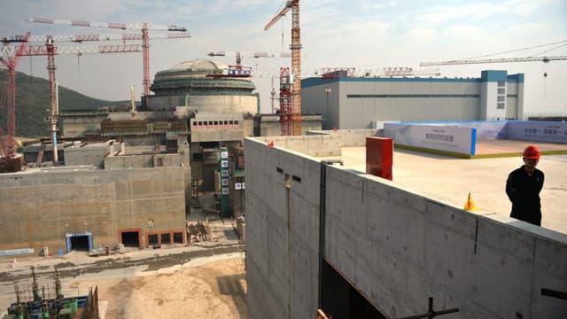 La centrale nucléaire de Taishan lors de sa construction
