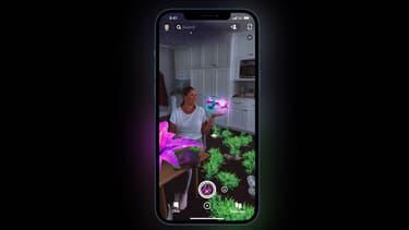 Un filtre Snapchat tirant profit du capteur LiDAR de l'iPhone 12 Pro