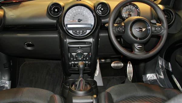 L'intérieur d'une Mini moderne