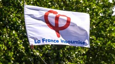 Le drapeau de la France Insoumise à Lille (Photo d'illustration).