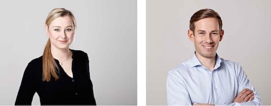 Pia Victoria Poppenreiter (PDG) et le Dr. Torsten Stüber (CTO) lancent les tests d'Ohlala à Berlin.