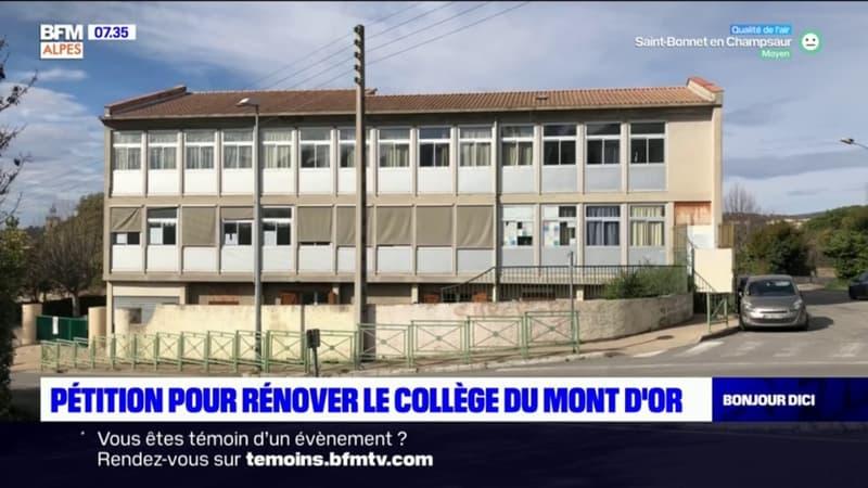 Manosque: une pétition pour rénover le collège du Mont d'Or