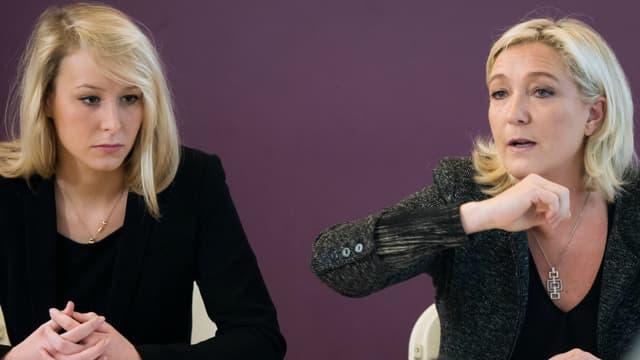 Marion Maréchal Le Pen et Marine-Le Pen ont souvent montré des désaccords sur des sujets majeurs.