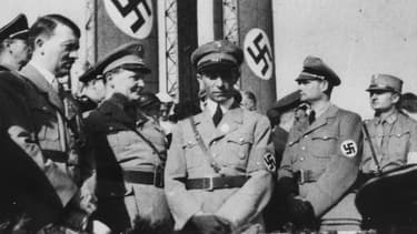 De gauche à droite, Hitler, goering, Goebbels, et Hess. (Photo d'illustration)